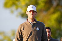 Thomas Pieters (Team Europe) on the 2nd during the Saturday morning Foursomes at the Ryder Cup, Hazeltine national Golf Club, Chaska, Minnesota, USA.  01/10/2016<br /> Picture: Golffile | Fran Caffrey<br /> <br /> <br /> All photo usage must carry mandatory copyright credit (&copy; Golffile | Fran Caffrey)