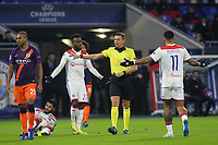 Lyon players show their frustration after Nabil Fekir is fouled by Manchester City's Fernandinho during Lyon vs Manchester City, UEFA Champions League Football at Groupama Stadium on 27th November 2018