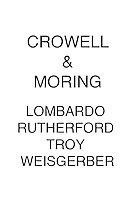 Crowell & Moring Lombardo Rutherford Troy Weisgerber