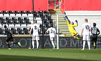SWANSEA, WALES - MARCH 25:Gregor Zabret of Swansea City makes a save during the Premier League International Cup Semi Final match between Swansea City and Porto at The Liberty Stadium on March 25, 2017 in Swansea, Wales. (Photo by Athena Pictures)