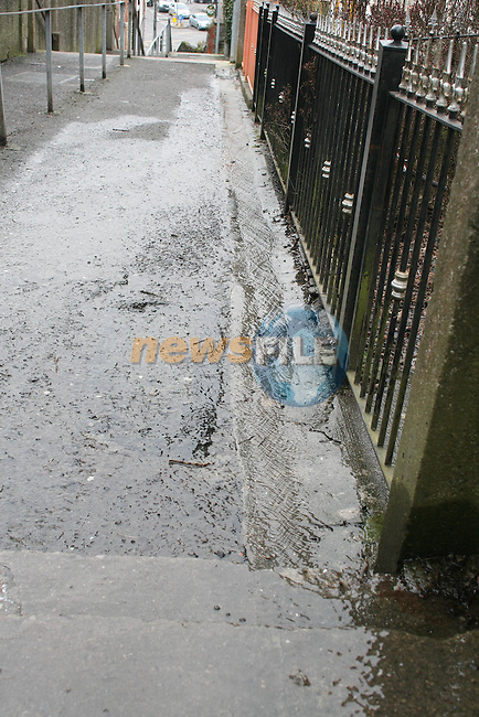 Water Flowing down Pitcher Hill Steps..Photo NEWSFILE/Jenny Matthews.(Photo credit should read Jenny Matthews/NEWSFILE)....This Picture has been sent you under the condtions enclosed by:.Newsfile Ltd..The Studio,.Millmount Abbey,.Drogheda,.Co Meath..Ireland..Tel: +353(0)41-9871240.Fax: +353(0)41-9871260.GSM: +353(0)86-2500958.email: pictures@newsfile.ie.www.newsfile.ie.FTP: 193.120.102.198.