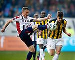 Nederland, Arnhem, 28 april 2013.Eredivisie.Seizoen 2012-2013.Vitesse-Willem II (3-1).Marco van Ginkel van Vitesse en Tim Cornelisse (l.) van Willem II strijden om de bal
