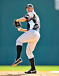 2 March 2011: Florida Marlins pitcher Josh Johnson in action during a Spring Training game against the Washington Nationals at Space Coast Stadium in Viera, Florida. The Nationals defeated the Marlins 8-4 in Grapefruit League action. Mandatory Credit: Ed Wolfstein Photo