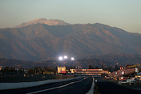 Nov 10, 2013; Pomona, CA, USA; Overall view of Auto Club Raceway at Pomona during the NHRA Auto Club Finals. Mandatory Credit: Mark J. Rebilas-