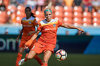Houston, TX - Saturday May 13, Houston Dash forward Rachel Daly (3) during a regular season National Women's Soccer League (NWSL) match between the Houston Dash and Sky Blue FC at BBVA Compass Stadium. Sky Blue won the game 3-1.