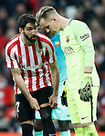 Athletic de Bilbao's Raul Garcia (l) and FC Barcelona's Marc-Andre Ter Stegen during Spanish Kings Cup match. January 05,2017. (ALTERPHOTOS/Acero)