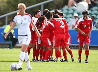 Korea DPR celebrate a goal. USA v Korea Republic. FIFA U-17 Women's World Cup Final. North Harbour Stadium, Auckland, Sunday 16 October 2008. Photo: Simon Watts/PHOTOSPORT
