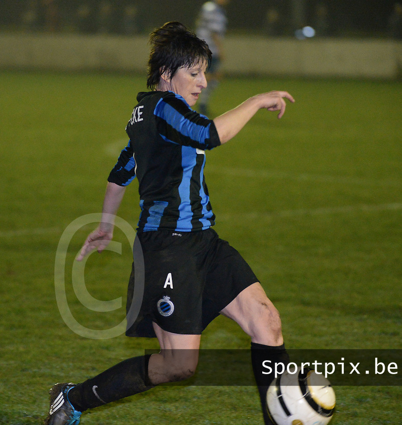20140326 - AALTER , BELGIUM : Brugge's Ingrid De Rycke pictured during the soccer match between the women teams of Club Brugge Vrouwen  and AA Gent  Ladies , on the 21th matchday of the BeNeleague competition Friday 14 March 2014 in Aalter. PHOTO DAVID CATRY