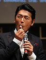 "May 20, 2016, Tokyo, Japan - Japanese actor Katsunori Takahashi eats a piece of cheese for the opening of ""Aperitif 365"" event in Tokyo on Friday, May 20, 2016. Thousands of visitors are expecting to enjoy aperitifs and hors d'oeuvres at the three-day event for the promotion of French foods and drinks.  (Photo by Yoshio Tsunoda/AFLO) LWX -ytd-"