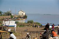 A fishing port on Lake Victoria in Homa Bay, Kenya.