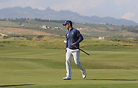 Matteo Manassero (ITA) on the 12th green during Round 1 of the Rocco Forte Sicilian Open 2018 on Thursday 5th May 2018.<br /> Picture:  Thos Caffrey / www.golffile.ie<br /> <br /> All photo usage must carry mandatory copyright credit (&copy; Golffile | Thos Caffrey)