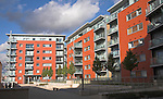 New apartments as part of the urban redevelopment of Ipswich Wet Dock, Ipswich, Suffolk