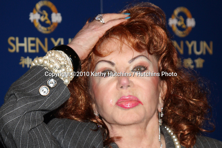 Jackie Stallone.arrives at the SHEN YUN PERFORMING ARTS SHOW.Dorothy Chandler Pavilion.Los Angeles, CA.July 8, 2010.©2010 Kathy Hutchins / Hutchins Photo.....