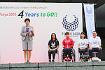 (L to R) <br />  Yuriko Koike, <br /> Mami Tani, <br /> Monika Seryu, <br /> Kyoko Iwasaki, <br /> Asao Tokoro, <br /> AUGUST 25, 2016 : <br /> The countdown event to mark 4 years to the start of <br /> the 2020 Tokyo Paralympic Games <br /> at Tokyo Metropolitan Government, Tokyo, Japan. <br /> (Photo by YUTAKA/AFLO SPORT)