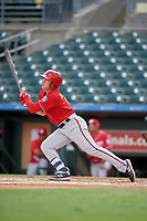 Washington Nationals J.T. Arruda (9) at bat during an Instructional League game against the Miami Marlins on September 25, 2019 at Roger Dean Chevrolet Stadium in Jupiter, Florida.  (Mike Janes/Four Seam Images)