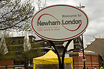 Welcome to Newham sign, London