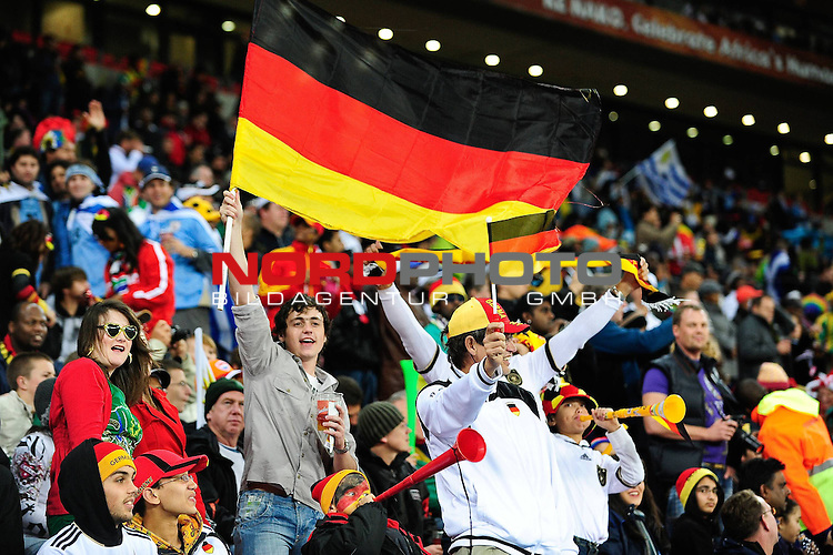 Fans during the FIFA World Cup 2010 3rd Place Play off match between Uruguay and Germany held at The Nelson Mandela Bay Stadium  in Port Elizabeth, South Africa on the 10 July 2010<br /> <br /> <br />  <br /> <br /> Foto &copy;  nph /  Kokenge