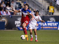 Chester, PA - October 26, 2014: The USWNT defeated Costa Rica 6-0 during the finals of the  CONCACAF Women's Championship at PPL Park.