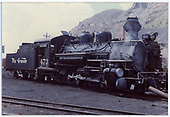 Front right side view of K-28 #473.<br /> D&amp;RGW  Durango, CO