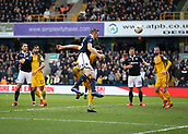 17th March 2019, The Den, London, England; The Emirates FA Cup, quarter final, Millwall versus Brighton and Hove Albion; Alex Pearce of Millwall heads the ball from a corner to score his sides 1st goal in the 70th minute to make it 1-0