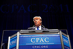 Donald Trump at the Conservative Political Action Conference on Thursday, Feb. 10, 2011 in Washington, DC.
