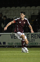 Dylan McGowan in the St Mirren v Heart of Midlothian Clydesdale Bank Scottish Premier League U20 match played at St Mirren Park, Paisley on 6.11.12.