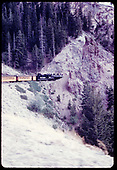 &quot;53-5 passenger train and Phantom Rock, Toltec, NM&quot;<br /> C&amp;TS (D&amp;RGW)  Toltec, NM  Taken by LeMassena, Robert A. - 6/1975