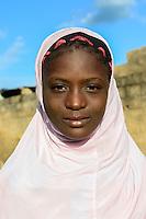 BURKINA FASO, Gaoua, muslim girl / muslimisches Maedchen
