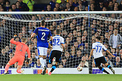 28th September 2017, Goodison Park, Liverpool, England; UEFA Europa League group stage, Everton versus Apollon Limassol; Adrián Sardinero of Apollon Limassol scores and makes it 0-1 in the 12th minute