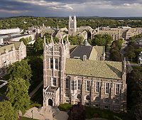 Boston College, Newton, MA aerial view drone , UAV