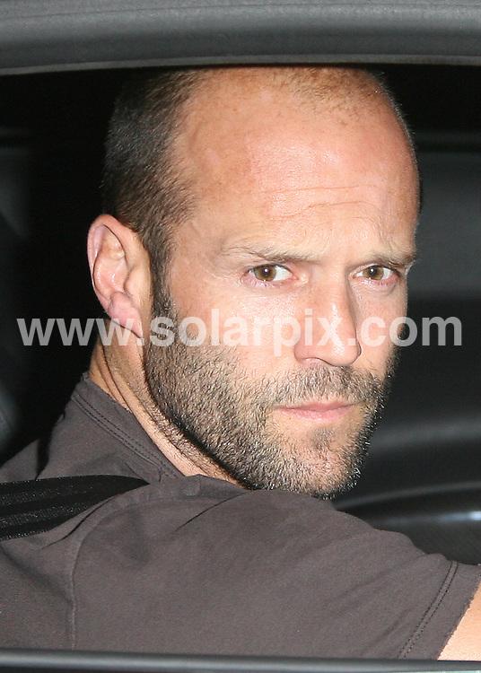 **ALL ROUND PICTURES FROM SOLARPIX.COM**.**WORLDWIDE SYNDICATION RIGHTS**.One night in Soho, London, UK. 17 August 2009..This pic: Jason Statham arrives back at the Soho hotel..JOB REF: 9762 LNJ     DATE: 17_08_2009.**MUST CREDIT SOLARPIX.COM OR DOUBLE FEE WILL BE CHARGED**.**MUST NOTIFY SOLARPIX OF ONLINE USAGE**.**CALL US ON: +34 952 811 768 or LOW RATE FROM UK 0844 617 7637**