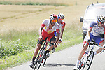 Loic Chetout (FRA) Cofidis in action during Stage 4 of the Route d'Occitanie 2019, running 154.8km from Gers - Astarac Arros en Gascogne to Clermont-Pouyguillès, France. 23rd June 2019<br /> Picture: Colin Flockton | Cyclefile<br /> All photos usage must carry mandatory copyright credit (© Cyclefile | Colin Flockton)