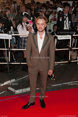 British actor Tom Felton attends the Japan premiere for the film ''Tomorrowland'' in Roppongi Hills Arena on May 25, 2015, Tokyo, Japan. George Clooney visited Japan for the first time in eight years with his wife Amal. The movie hits the theaters across Japan on June 6th. (Photo by Rodrigo Reyes Marin/Walt Disney Studio Japan/AFLO)