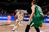 22nd March 2018, Wizink Centre, Madrid, Spain; Turkish Airlines Euroleague Basketball, Real Madrid versus Zalgiris Kaunas; Facundo Campazzo (Real Madrid Baloncesto) brings the ball foward