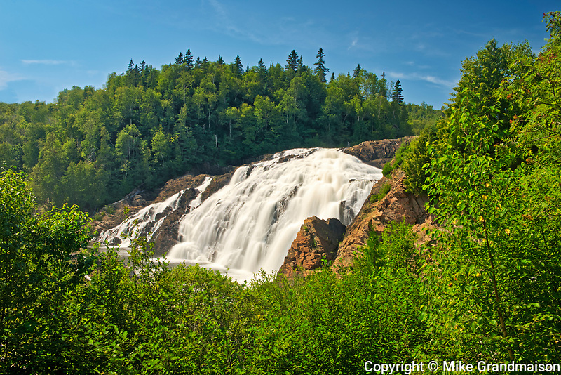 The Magpie River flows over scenic High Falls (also known as Magpie High Falls)<br /><br />Ontario<br />Canada
