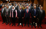 Palestinian Prime Minister Mohammad Ishtayeh , attends  the launch of the strategy of the specialized lending sector, in the West Bank city of Ramallah, on October 01, 2019. Photo by Prime Minister Office