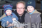 FAMILY DAY: Darragh, Mark and Paul Stephenson, Tralee, having a family day at the Ballyheigue Races on Sunday.   Copyright Kerry's Eye 2008