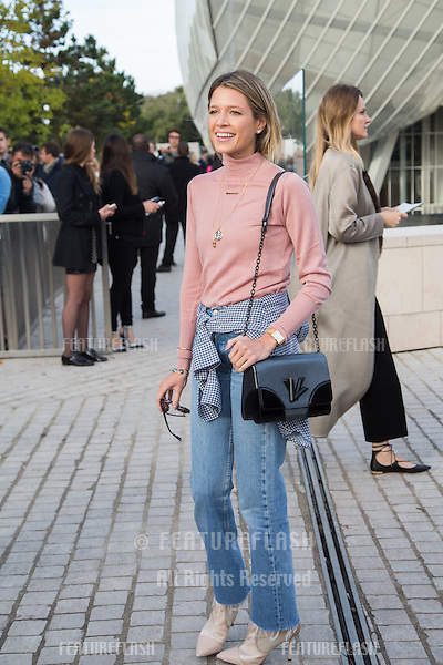 Helena Bordon attend Louis Vuitton Show Front Row - Paris Fashion Week  2016.<br /> October 7, 2015 Paris, France<br /> Picture: Kristina Afanasyeva / Featureflash