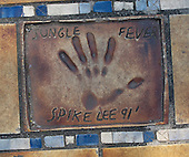 Hand print of the film director, Spike Lee, outside the Palais des Festivals et des Congres, Cannes, France.