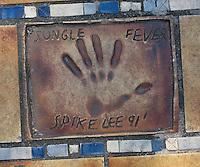 Hand print of the film director, Spike Lee, outside the Palais des Festivals et des Congres, Cannes, France.