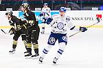 Stockholm 2015-09-30 Ishockey Hockeyallsvenskan AIK - Leksands IF :  <br /> Leksands Matias Lassen firar sin reducering till 2-5 under matchen mellan AIK och Leksands IF  <br /> (Foto: Kenta J&ouml;nsson) Nyckelord:  AIK Gnaget Hockeyallsvenskan Allsvenskan Hovet Johanneshov Isstadion Leksand LIF jubel gl&auml;dje lycka glad happy