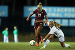 23 October 2014: Florida State's Emma Koivisto (FIN) (23) and North Carolina's Megan Buckingham (right). The University of North Carolina Tar Heels hosted the Florida State University Seminoles at Fetzer Field in Chapel Hill, NC in a 2014 NCAA Division I Women's Soccer match. The game ended in a 1-1 tie after double overtime.