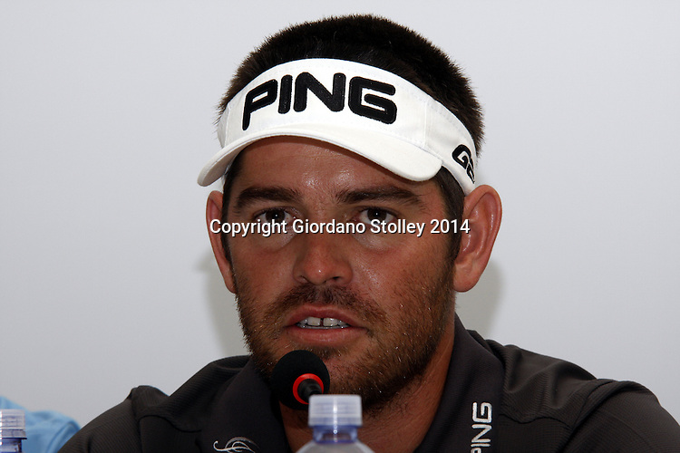 DURBAN - 8 January 2014 - South African golfer Louis Oosthuizen answers questions from the press at the Volvo Golf Champions in Durban, where he is the defending champion, having won the in 2013. Picture: Allied Picture Press/APP