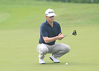 Heath Slocum (USA) on the 11th green during Round 3 of the CIMB Classic in the Kuala Lumpur Golf & Country Club on Saturday 1st November 2014.<br /> Picture:  Thos Caffrey / www.golffile.ie