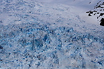 Ice formations - Detail of Aialik Glacier, Aialik Bay, Kenai Fjords National Park, Alaska