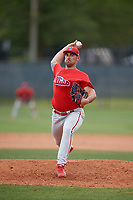 Philadelphia Phillies pitcher Blake Quinn (53) during a Minor League Spring Training game against the Toronto Blue Jays on March 30, 2018 at Carpenter Complex in Clearwater, Florida.  (Mike Janes/Four Seam Images)