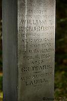 Ancient headstone
