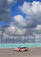 Nov. 15, 2008; Homestead, FL, USA; NASCAR Sprint Cup Series driver Carl Edwards during practice for the Ford 400 at Homestead Miami Speedway. Mandatory Credit: Mark J. Rebilas-
