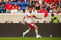 Jonny Steele (22) of the New York Red Bulls. The New York Red Bulls defeated the Houston Dynamo 2-0 during a Major League Soccer (MLS) match at Red Bull Arena in Harrison, NJ, on June 30, 2013.