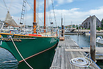 The schooner Eleanor at Arundel Wharf in Kennebunkport, Maine, USA